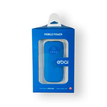 Ebai Q1 Power Bank Batería Respaldo Superpoder 5600 Mah Azul