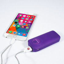Ebai Q1 Power Bank Cargador Portátil 5600 Mah Purpleiphone 6