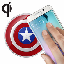Cargador Inalambrico Qi Capitan America Samsung Galaxy S6
