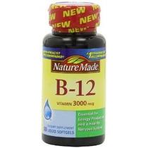Naturaleza La Vitamina B-12 Hecho Cápsulas 3000 Mcg 60 Conta