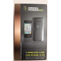 Case Wireless Cargador Duracell Para Iphone 4 Y 4s Negro