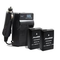 Kit De 2 Baterias Decodificadas Cargador P Nikon En-el14 Hm4
