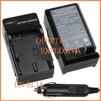 Cargador C/smart Led P/bateria Nikon En-el14 Camara D3100