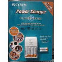 Sony® Cycle Energy Cargador Con 4 Pilas Aa Y 2 Aaa Ni-mh