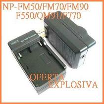 Cargador C/smart Led P/bateria Np-f960/f970/qm91/qm71/qm71d