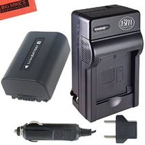 Np-fv50 Batería Y Cargador De Batería Para Sony Dcr-sx44 Dcr