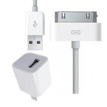 2x1 Cargador Pared Y Cable Datos Para Iphone 4/4s/3 Y Ipod