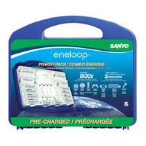 Eneloop Power Pack Cargador Con 10 Baterias Envio Gratis Mn4