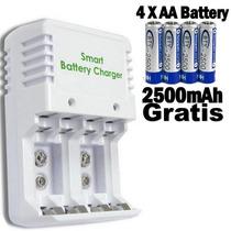 Cargador Universal Baterías Aa-aaa-9v 4 Pilas Extra