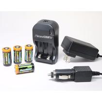 Cargador Universal De Baterias Power2000 Cr-123a Paquete 4