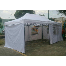 Carpa Toldo Retractil 6x3 Metros Con Paredes