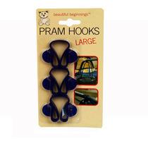 Hook Pram Set - 3x Azul Cochecito Cochecito Cochecito