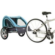 Remolque Para Bicicleta Carreola Doble Sicronizado Azul Daa