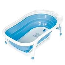 Baby Trend Karibu Plegable Bañera Azul / Blanco