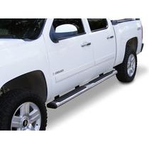 Estribos Chevrolet Cheyenne 2007-2015 Negro/inox