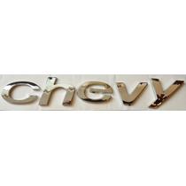 Emblema Texto Chevy, Version C2, Mod. 04, 08, Marca Nacional