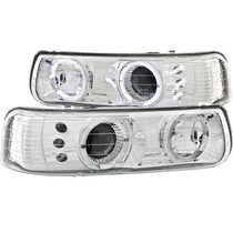 Cv Silverado 99-02 Projector H.l Halo Chrome Led
