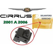 01-06 Chrysler Cirrus Control Vidrio Electrico Delantero Der