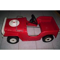 Carrito De Pedales Jeep De Bomberos Años 70s
