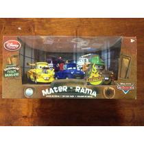 Set Disney Pixar Cars Mater Rama 5 Autos Mate, Muy Raro !!!