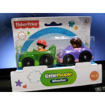 Little People Wheelies Carritos 2 Pack