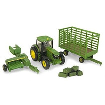 Ertl Collectibles John Deere 6210r Tractor Balas Set
