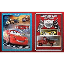 Cars Disney Blue-ray, Mcqueen Gold. Rescue Squad Mater.