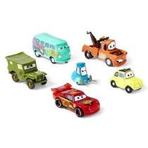 Disney Cars 6 Pc Rayo Mcqueen Luigi Guido Mater Sarge Filmor