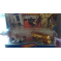 Star Wars Hotwheels R2-d2 Y C-3po Set