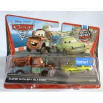 Set Mater Spy Glasses Lentes Espia Y Acer Cars 2 Disney