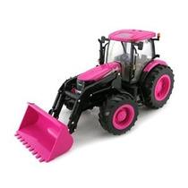 1 / 16o Granja Grande Case Ih Pink Tractor Con Cargador Extr