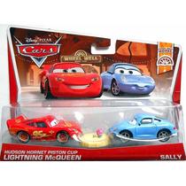 Cars Disney Hudson Hornet Piston Cup Mcqueen & Sally.