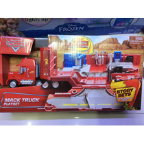 Plyset De Cars Mack Truck Trailer Disney !!