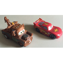 Disney Cars 2 - Pull Back Racer - Rayo Mc Queen Y Mater 2pcs