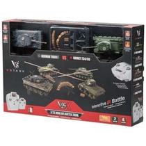 Par Tanques Guerra Radio Control Tiger I/t34
