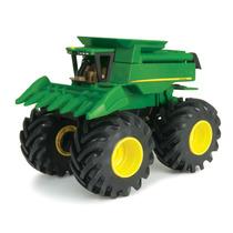 Juguete Tractor Con Sonidos Al Agite Jhon Deere Monster Vbf