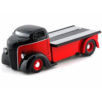 Camioneta 1947 Ford Coe Just Trucks 1/24 Red/black Toy Truck
