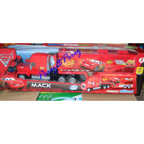 Cars Mack C/r Pila Recargable + 4 Carritos De Cars