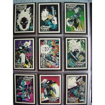 Set Completo 10 Tarjetas Marvel Ghostrider Glow In The Dark