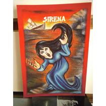 Tarjeta Sirena Monstruos Del Bolsillo Vintage
