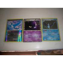 Pokemon Articuno 1/100, Crobat 84/95 Y Lumineon 11/123.