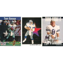 2 Tarjetas Y 1 Mini Book De Troy Aikman Cowboys Dallas