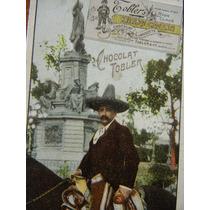 Tarjeta Mexicano Publicidad Chocolate Tobler Suizo