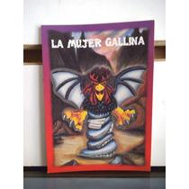 Tarjeta La Mujer Gallina Monstruos Del Bolsillo Vintage