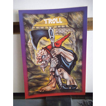 Tarjeta Troll Monstruos Del Bolsillo Vintage