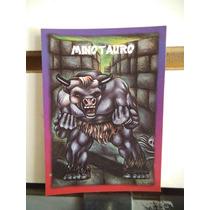 Tarjeta Minotauro Monstruos Del Bolsillo Vintage