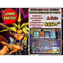 Mega Pack Extremo De 500 Cartas De Yugioh - Envio Gratis!!