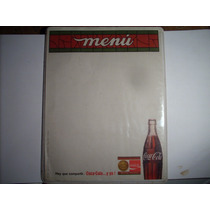 Antiguo Menu De Coca-cola No Pepsi-cola Baul R.