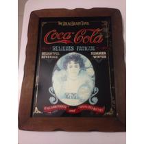 Espejo Cuadro Antiguo Coca Cola 47 X 38 Cm Vintage