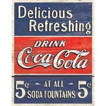 Poster Cartel Anuncio Coca Cola Antiguo Retro Vintage Litog